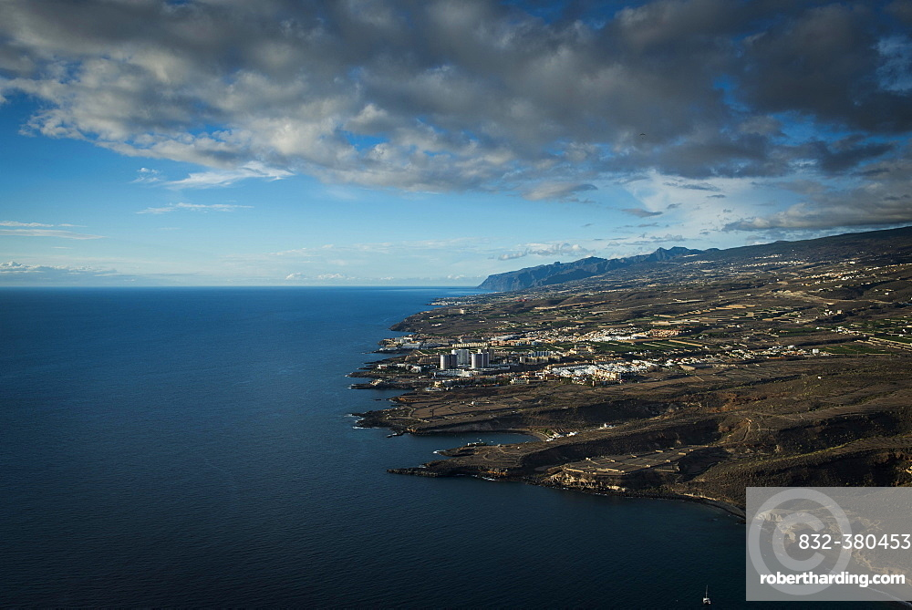 West coast with bays, Tenerife, Atlantic Ocean, Canary Islands, Spain, Europe