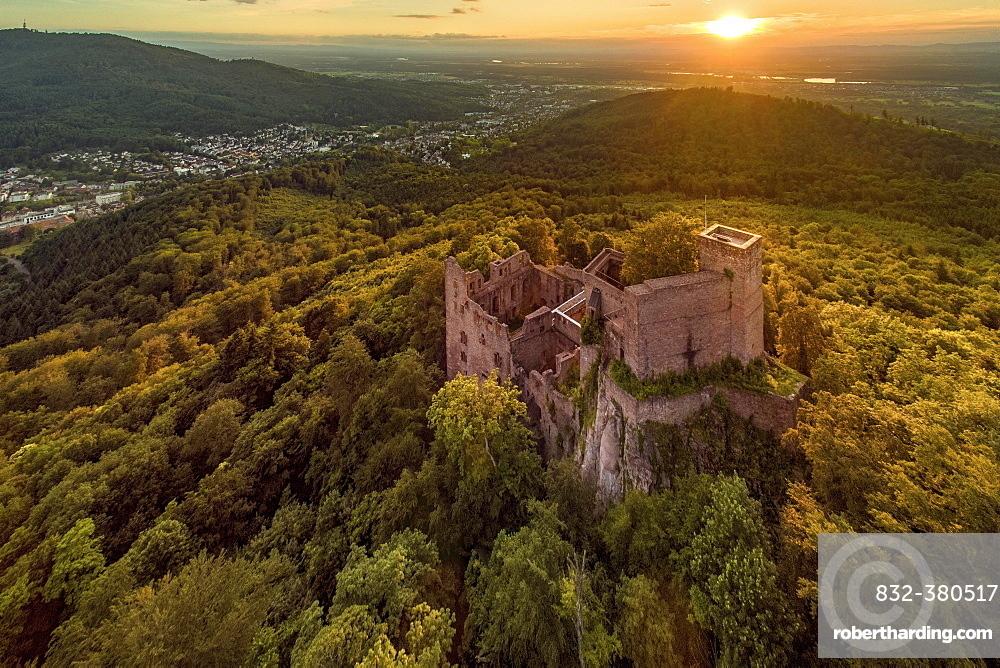Castle ruins, Hohenbaden Castle, Baden-Baden, Baden-Württemberg, Germany, Europe