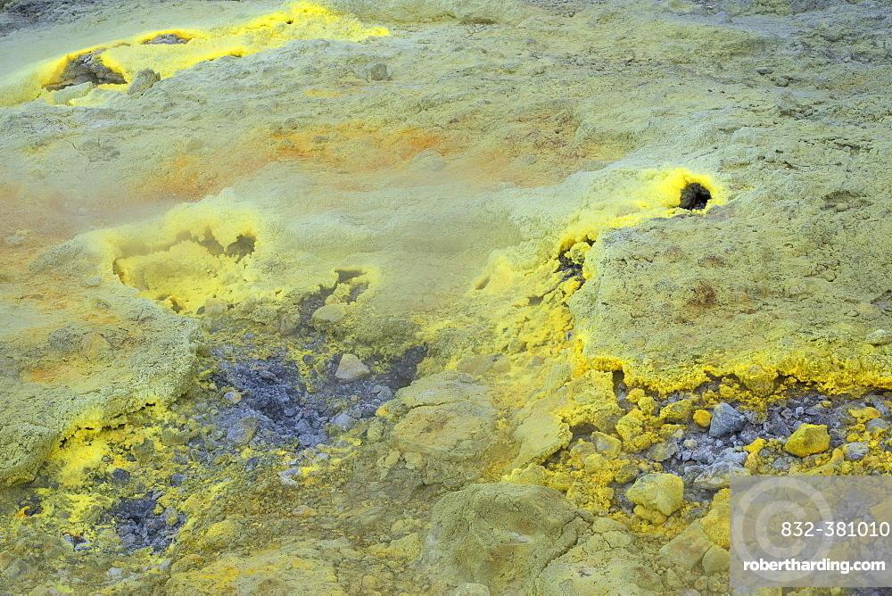 Sulfur vapor, Vulcano Island, Aeolian Islands, Italy, Europe
