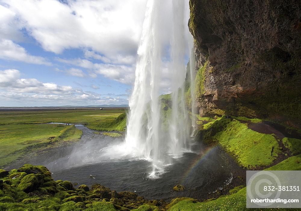 Seljalandsfoss Waterfall, Seljalandsa River, South Island, Island