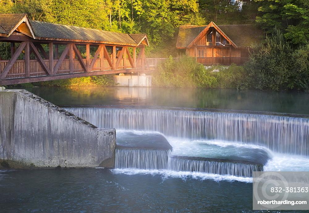 Kastenmühlwehr, mill, on the river Loisach, Wolfratshausen, Upper Bavaria, Bavaria, Germany, Europe