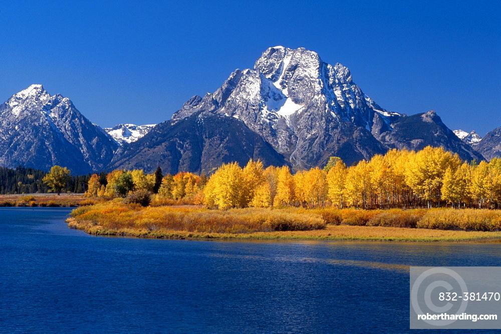 Oxbow Bend and Teton Range, Grand Teton National Park, Wyoming, USA, North America