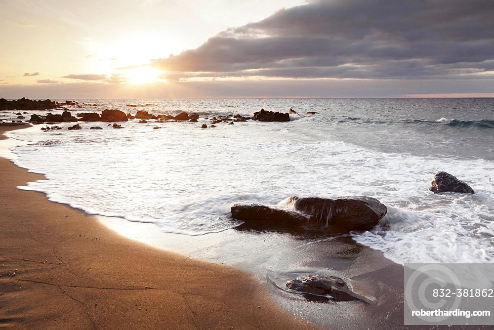 Beach Playa des Ingles, La Playa in Valle Gran Rey, La Gomera, Canary Islands, Spain, Europe