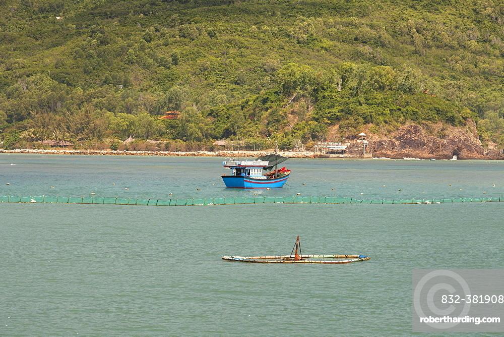 Fishing boats at Sao Bien, Ninh Thuan, Vietnam, Asia