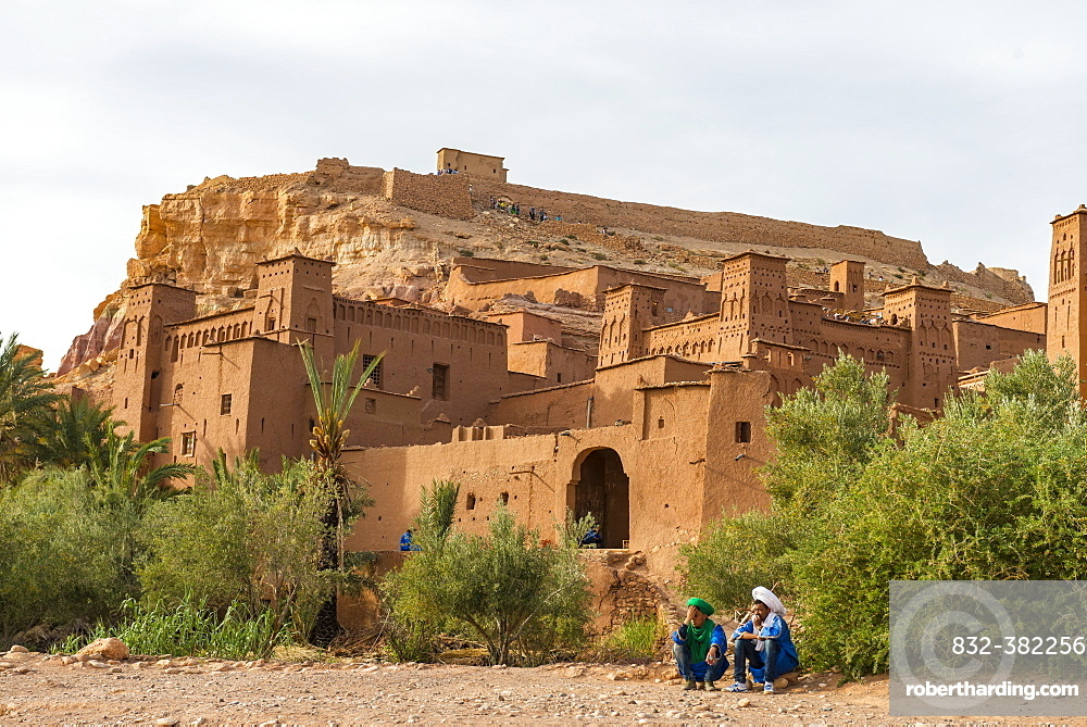 Residence of the Kasbah Ait Benhaddou, High Atlas, Ksar Ait Benhaddou, Ouarzazate Province, Souss-Massa-Draa, Morocco, Africa