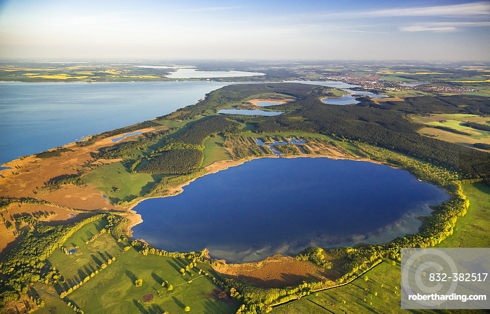 Aerial view, Waren National Park, Waren, Mecklenburg Lake District or Mecklenburg Lakeland, Mecklenburg-Western Pomerania, Germany, Europe
