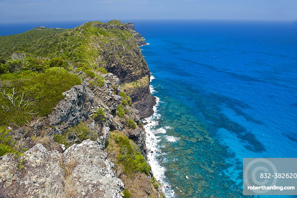View over the Malabar cliffs, Lord Howe Island, New South Wales, Australia, Oceania