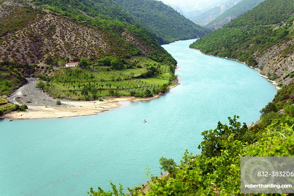 River Mat, Shkopet Reservoir, Ulza Regional nature park Park, Albania, Europe