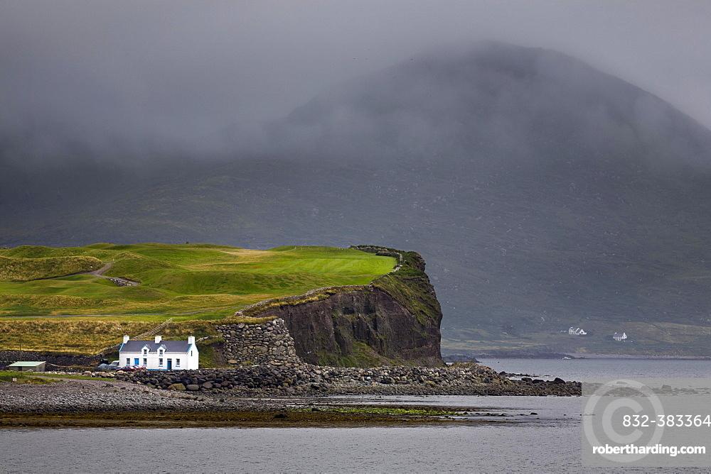 House on the Atlantic coast, Waterville, County Kerry, Ireland, Europe