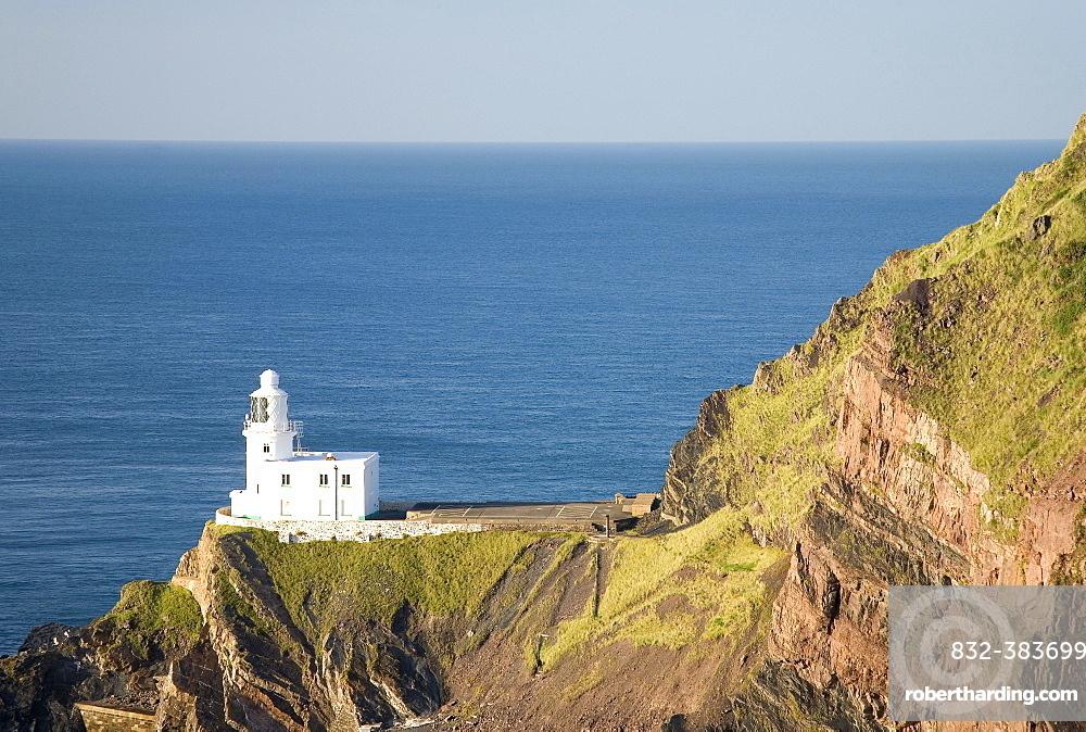 Lighthouse of Hartland Point, Devon, England, Great Britain