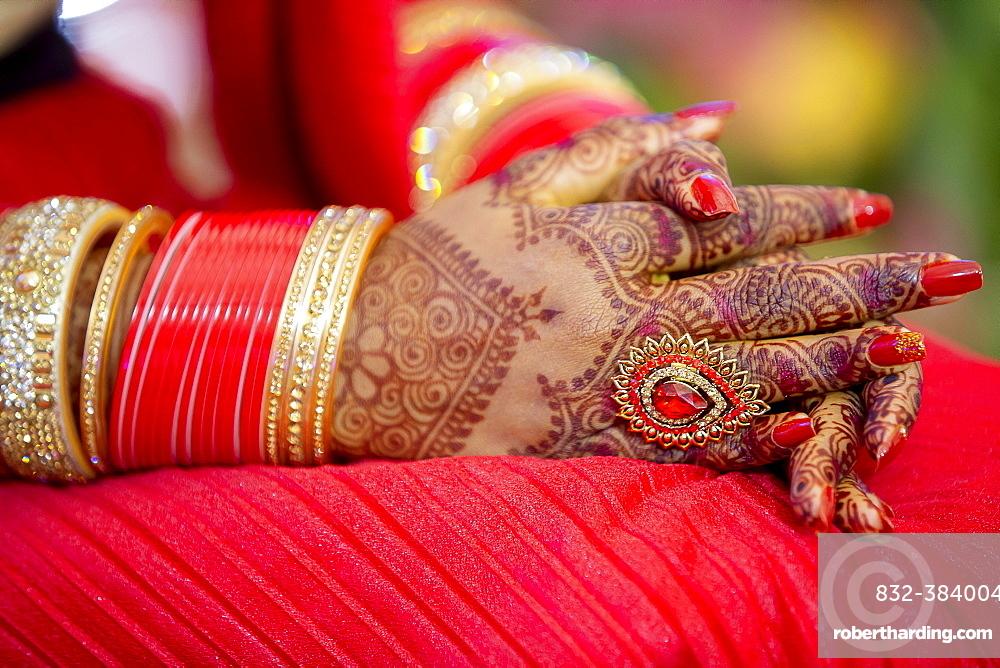 Henna tattoos on Hands, Mauritius, Africa