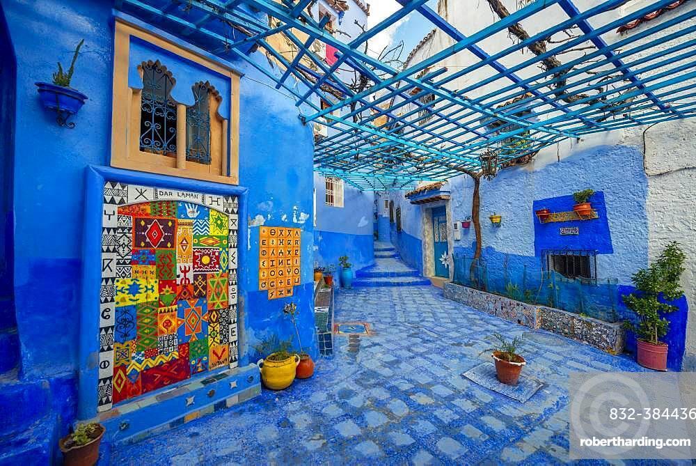Old Town, Blue House Walls, Medina of Chefchaouen, Chaouen, Tanger-Tetouan, Morocco, Africa