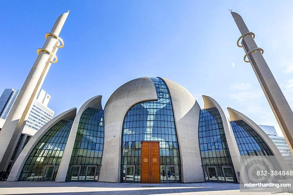Mosque, DITIB Central Mosque, Cologne, Rhineland, North Rhine-Westphalia, Germany, Europe