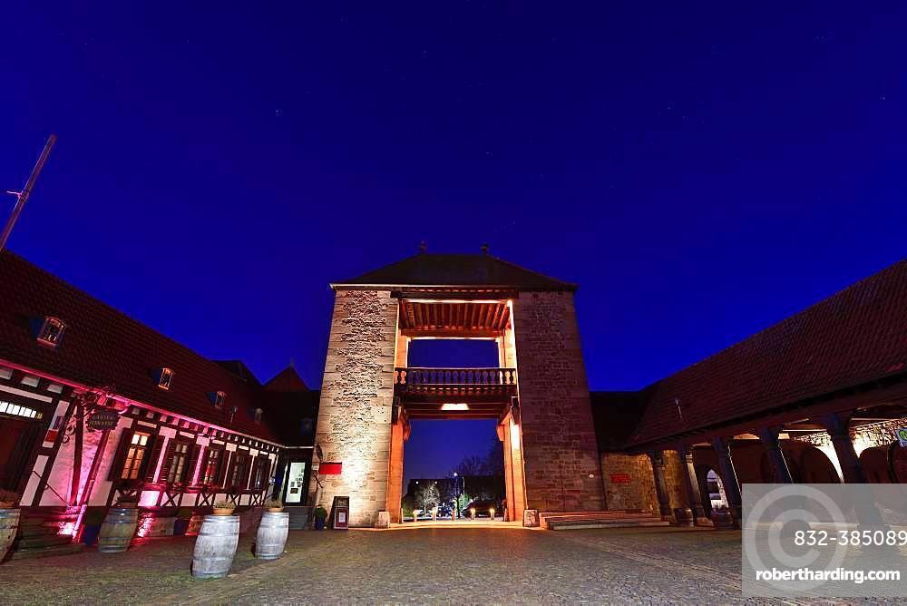 German Wine Gate, Schweigen-Rechtenbach, German Wine Route, Rhineland-Palatinate, Germany, Europe