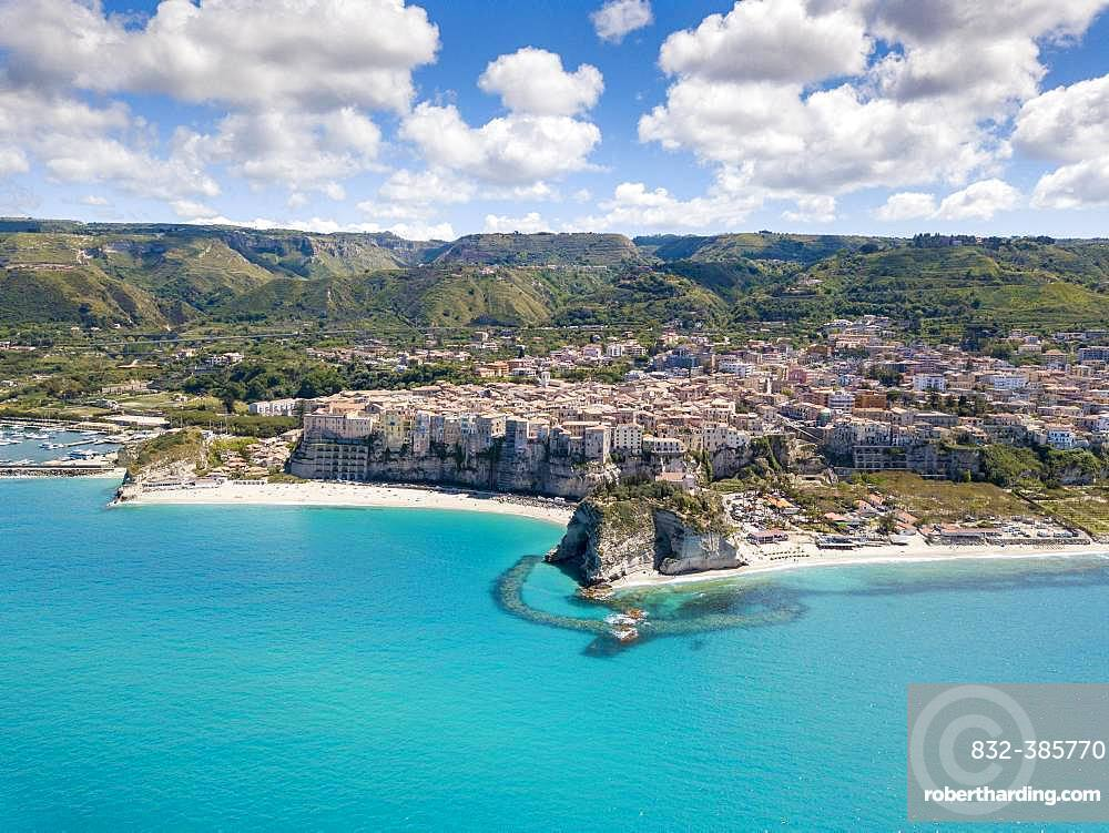 Arial view of Tropea, Calabria, Italy, Europe