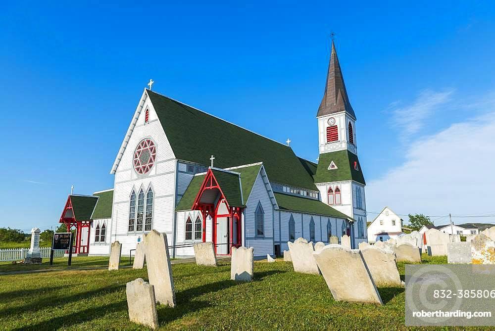Church St. Paul's with cemetery, Trinity, Newfoundland and Labrador, Canada, North America