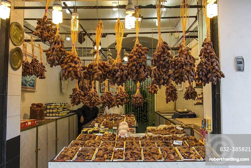 Shop, sale of dates, Algier, Algeria, Africa
