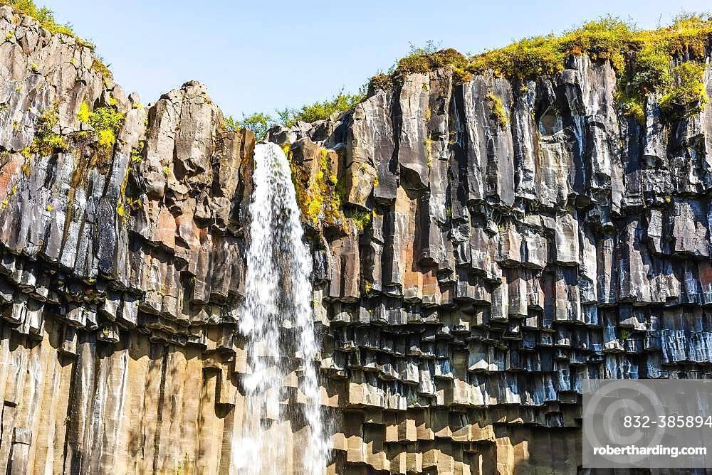 Svartifoss, Skaftafell National Park, Sudurland, South Iceland, Iceland, Europe
