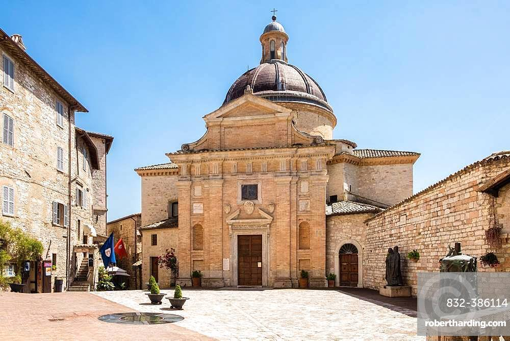 The Baroque Church of Chiesa Nuova, Assisi, Province of Perugia, Umbria, Italy, Europe