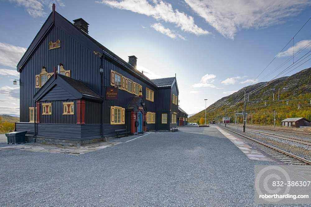 Hjerkinn railway station, Oppland district, Norway, Europe