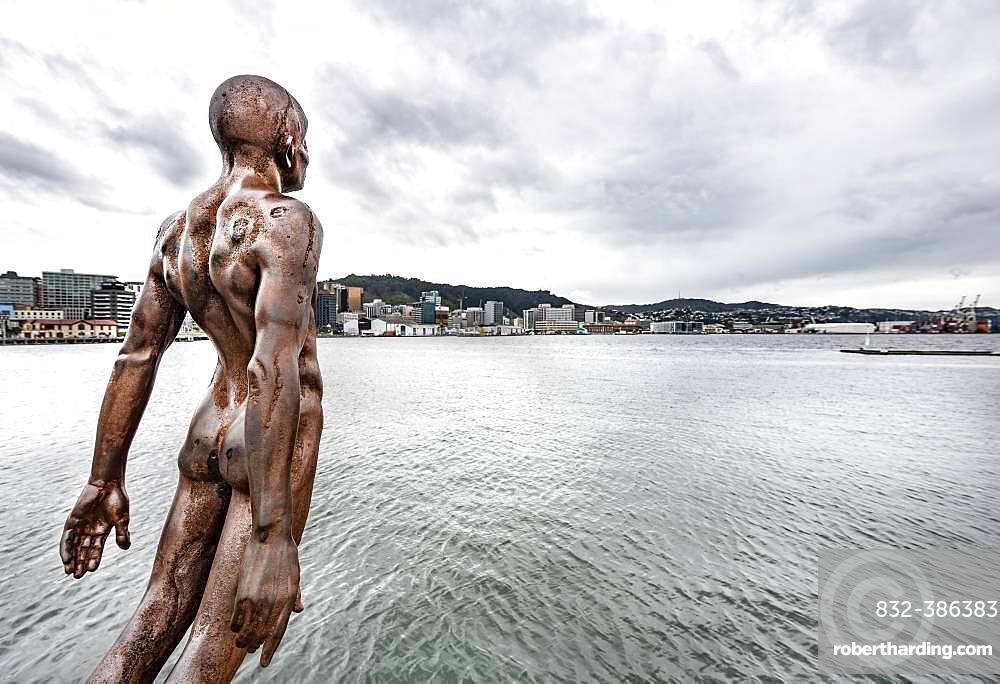 Sculpture Solace of the Wind in the Harbour, Wellington Waterfront, Wellington, North Island, New Zealand, Oceania