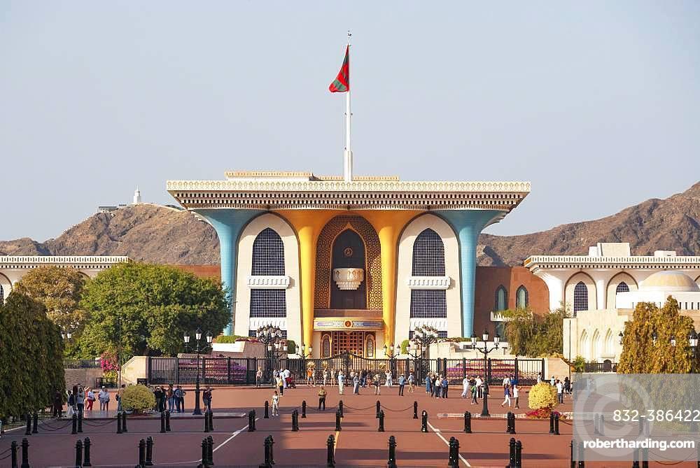 Sultan's palace Al Alam, government quarter, Muscat, Oman, Asia