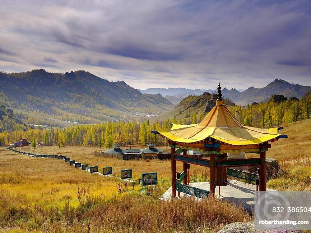 Aryapala Temple Meditation Center, Gorchi Terelj National Park, Ulan Bator, Mongolia, Asia