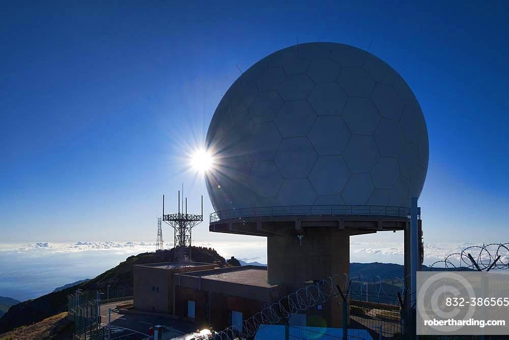 Observatory Forca Aerea on the Pico do Arieiro, Parque Natural da Madeira, Madeira, Portugal, Europe