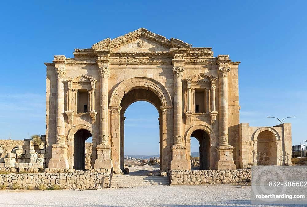 Arch of Hadrian, Jerash, Jordan, Asia