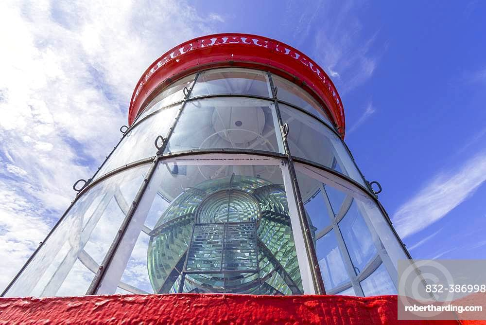Fresnel lens of the lighthouse Saint Mathieu, Plougonvelin, Departement Finistere, France, Europe