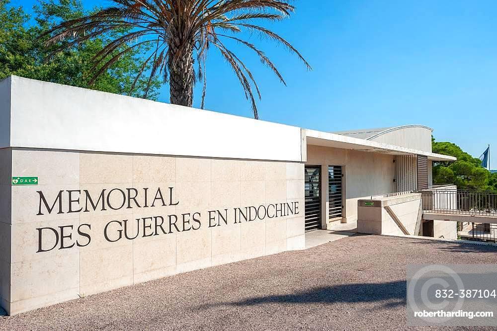 Entrance area of the necropolis Memorial des Guerres en Indochine, Frejus, Var, Provence-Alpes-Cote d'Azur, France, Europe