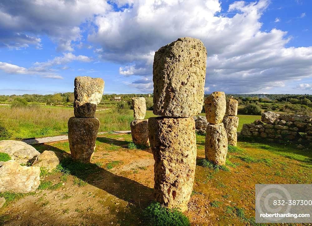 Santuari de Son Corro, sanctuary of the Talayotic culture, near Costitx, Majorca, Balearic Islands, Spain, Europe