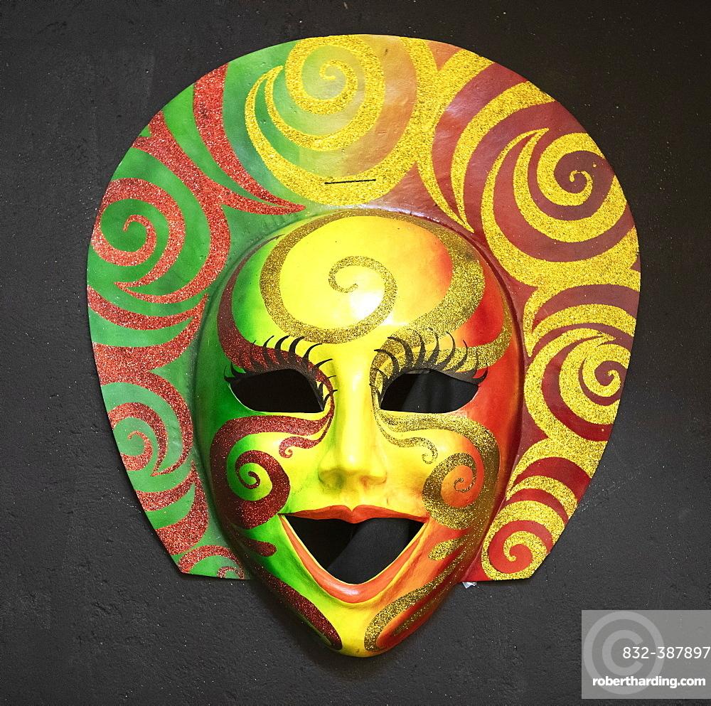 Mascara Mask, traditional festive mask, Negros Island, Central Visayas, Philippines, Asia