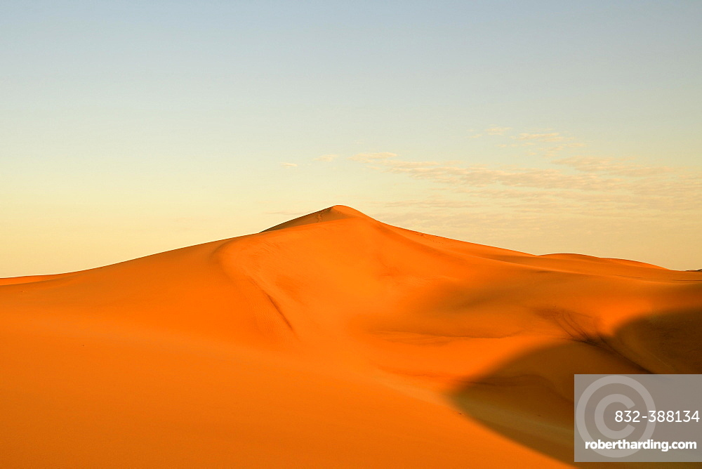 Sand dunes of the Namib Desert, dune belt, long beach, Walvis Bay, Namibia, Africa
