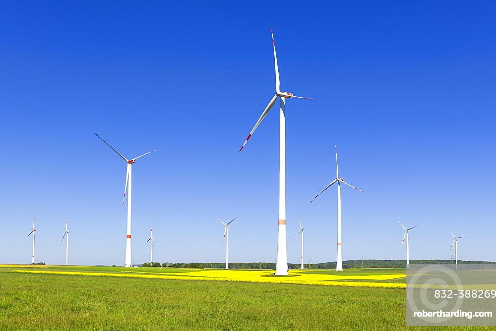 Wind turbine, wind turbines, Baden-Wuerttemberg, Germany, Europe