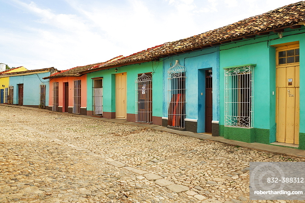Modest dwellings in the colonial old town, Trinidad, Cuba, Central America