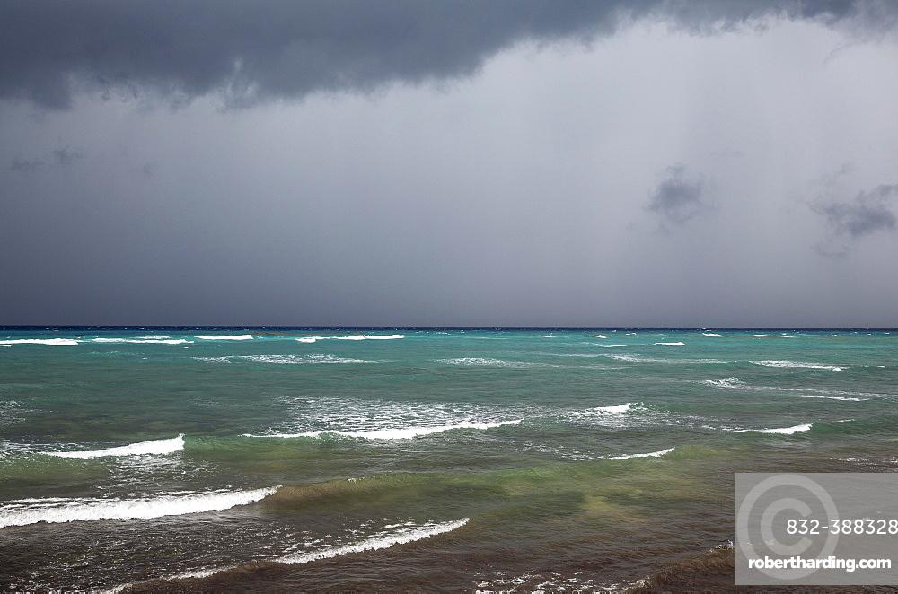 Heavy rainstorm, Guanahacabibes Peninsula, Guanahacabibes National Park, Cuba, Central America