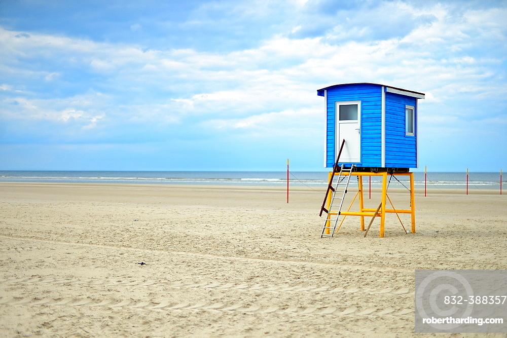 Cabin on the beach, Langeoog, East Frisian Islands, Germany, Europe