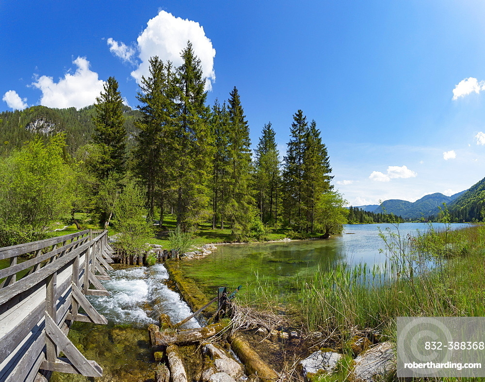 Mountain lake, Pillersee, Sankt Ulrich am Pillersee, Pillerseetal, Tyrol, Austria, Europe