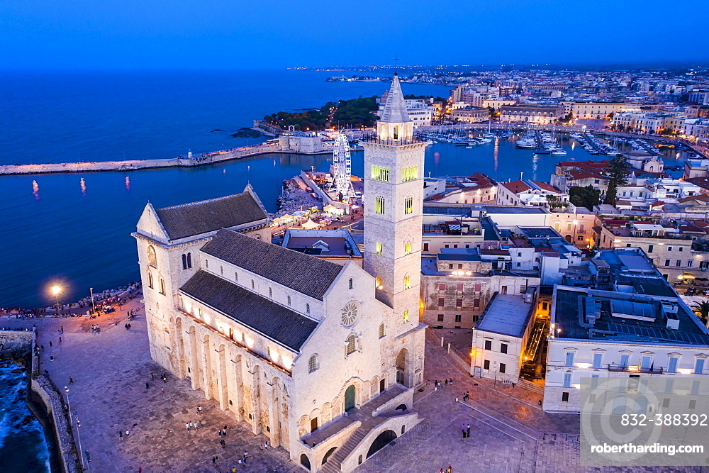 Aerial view, Trani, Apulia, Southern Italy, Italy, Europe