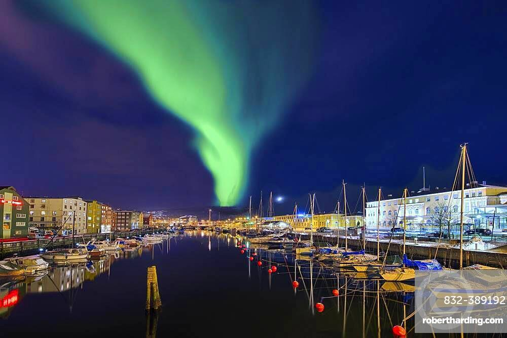 Northern lights in Trondheim Norway