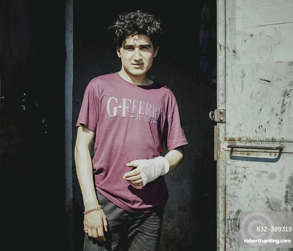 Bilal, refugee, from Afghanistan, Belgrade, Serbia, Europe