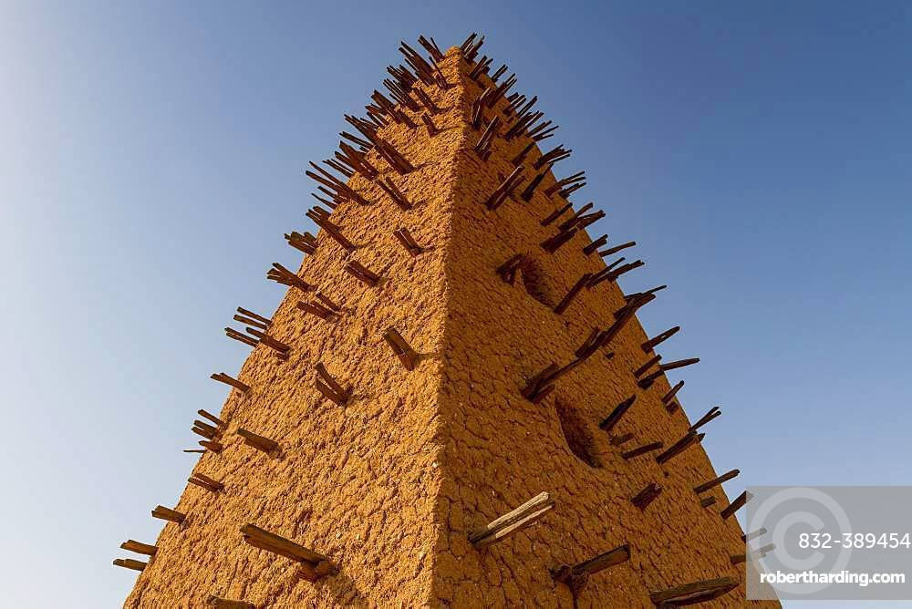 Minaret, Great Mosque of Agadez, Agadez, Niger, Africa