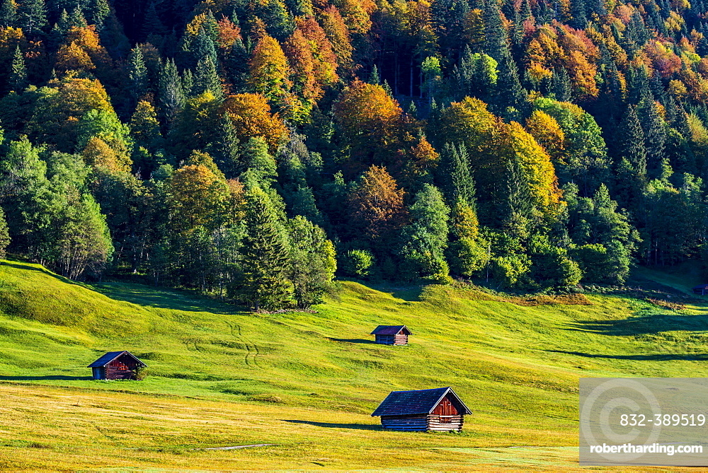 Wiesstaedl am Geroldsee, Werdenfelser Land, Upper Bavaria, Bavaria, Germany, Europe
