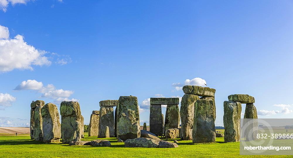 Stonehenge, Neolithic cult site, Neolithic stone circle, UNESCO World Heritage Site Stonehenge, Avebury and Associated Sites, Wiltshire, England, United Kingdom, Europe