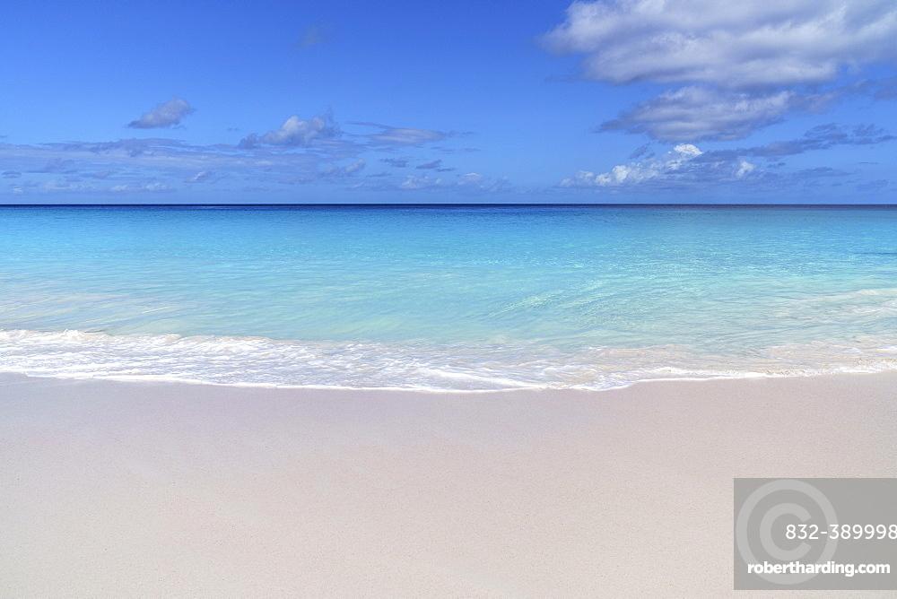 Sandy beach beach Anse Georgette, Praslin, Seychelles, Africa