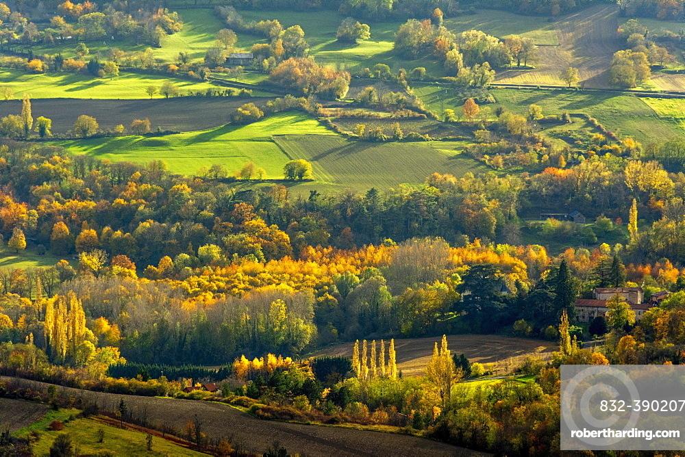 Autumn landscape, Auvergne-Rhone-Alpes, France, Europe