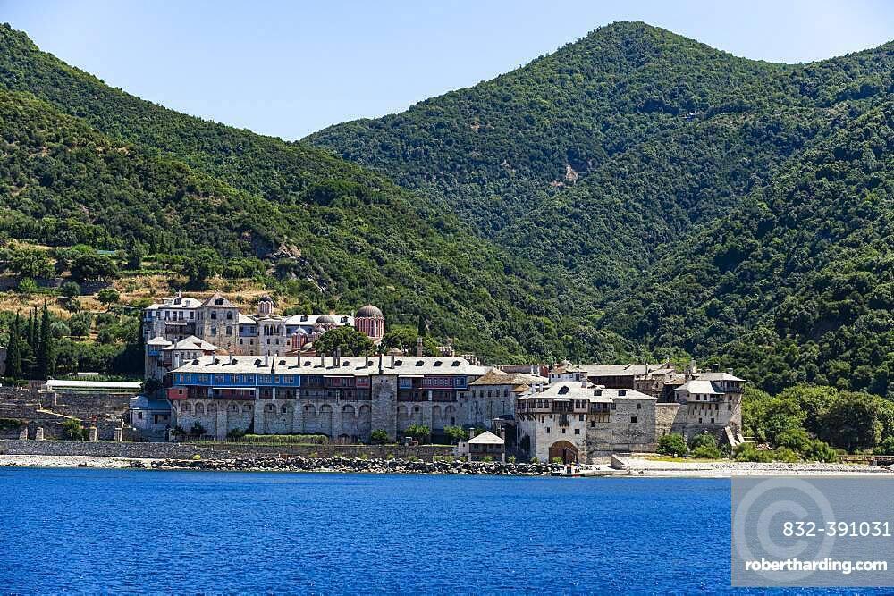 Xenophontos Monastery, Unesco world heritage site Mount Athos, Greece, Europe