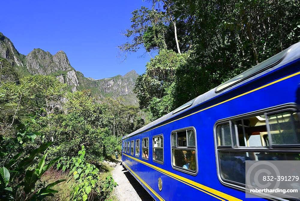 Peru Rail to Cusco, Aguas Calientes, Machu Picchu, Urubamba Province, Peru, South America