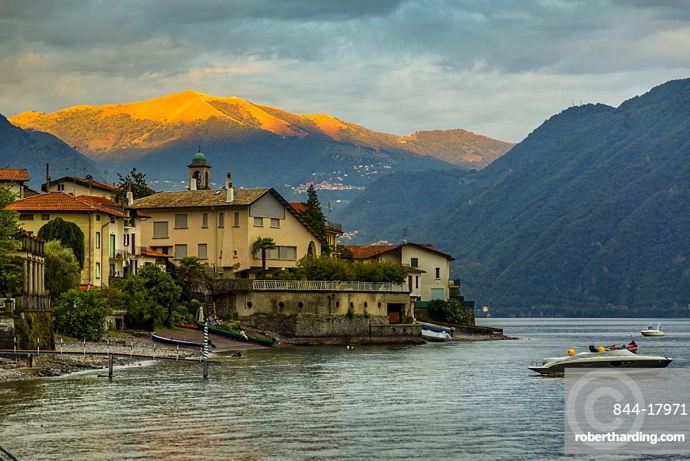 View of Lake Como from Lezzeno at dawn, Province of Como, Lake Como, Lombardy, Italian Lakes, Italy, Europe